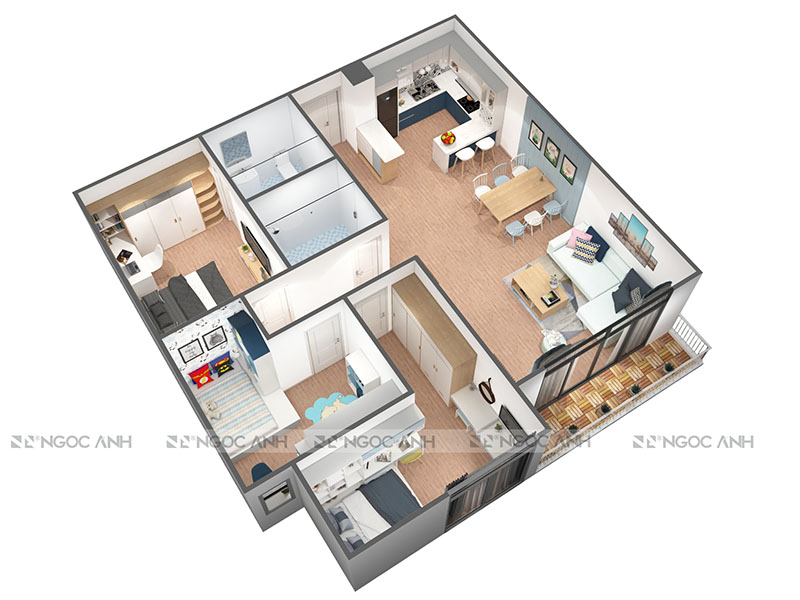 APARTMENT DESIGN 100M2