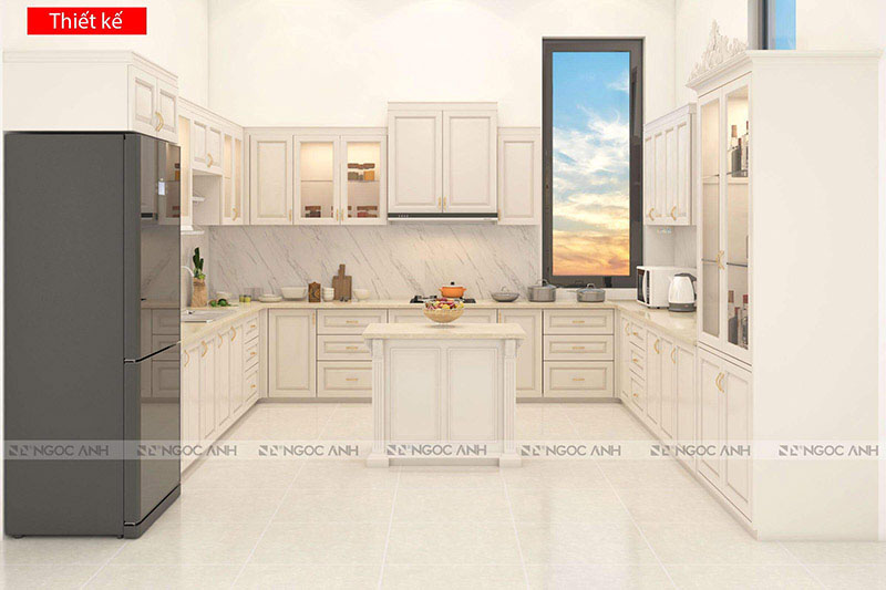KITCHEN COMBINATION BETWEEN CLASSIC AND MODERN